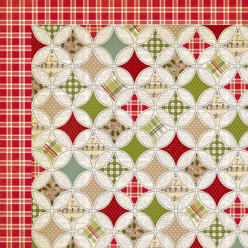 Simple Stories - Handmade Holiday Collection - Christmas - 12 x 12 Double Sided Paper - Handcrafted