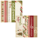 Simple Stories - Handmade Holiday Collection - Christmas - 12 x 12 Double Sided Paper - Border and Title Strip Elements