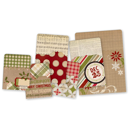 Simple Stories - SNAP Collection - Christmas - Memorabilia Pockets - Handmade Holiday