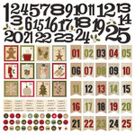 Simple Stories - Handmade Holiday Collection - Christmas - 12 x 12 Cardstock Stickers - Countdown