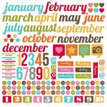 Simple Stories - SNAP Life Collection - 12 x 12 Cardstock Stickers - Calendar