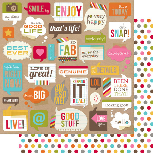 Simple Stories - SNAP Life Collection - 12 x 12 Double Sided Paper - SNAP Bubbles