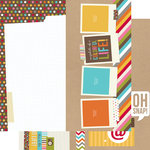 Simple Stories - SNAP Life Collection - 12 x 12 Double Sided Paper - SNAP Page Elements