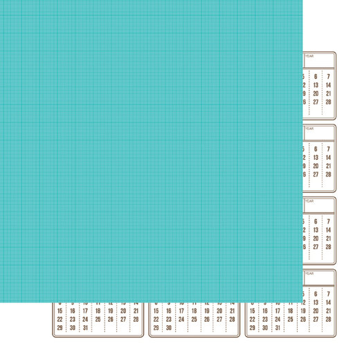 Simple Stories - SNAP Life Collection - 12 x 12 Double Sided Paper - Teal