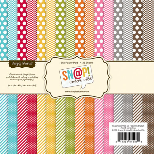 Simple Stories - SNAP Color Vibe Collection - 6 x 6 Paper Pad - Color Vibe