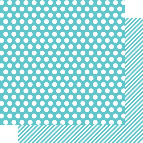 Simple Stories - SNAP Color Vibe Collection - 12 x 12 Double Sided Paper - Teal Dot