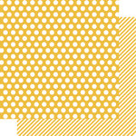 Simple Stories - SNAP Color Vibe Collection - 12 x 12 Double Sided Paper - Yellow Dot