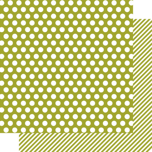 Simple Stories - SNAP Color Vibe Collection - 12 x 12 Double Sided Paper - Green Dot