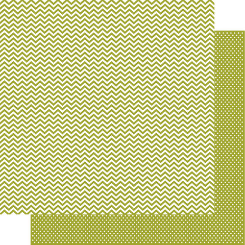 Simple Stories - SNAP Color Vibe Collection - 12 x 12 Double Sided Paper - Green Chevron
