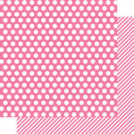 Simple Stories - SNAP Color Vibe Collection - 12 x 12 Double Sided Paper - Pink Dot