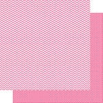 Simple Stories - SNAP Color Vibe Collection - 12 x 12 Double Sided Paper - Pink Chevron