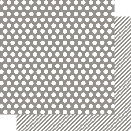 Simple Stories - SNAP Color Vibe Collection - 12 x 12 Double Sided Paper - Grey Dot