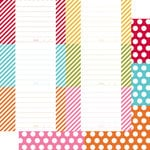 Simple Stories - SNAP Color Vibe Collection - 12 x 12 Double Sided Paper - Dot Stripe Journaling 2