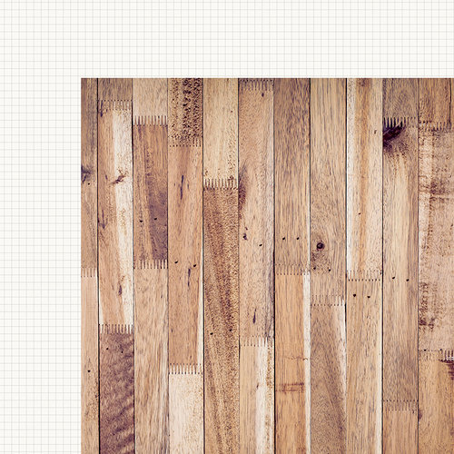 Simple Stories - SNAP Basics Collection - 12 x 12 Double Sided Paper - Hickory Grid