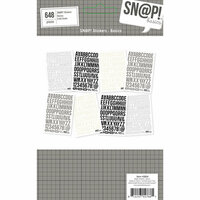 Simple Stories - SNAP Studio Basics Collection - Cardstock Stickers - 4 x 6 - Basics