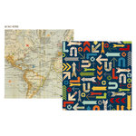 Simple Stories - Urban Traveler Collection - 12 x 12 Double Sided Paper - Jet Set
