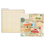 Simple Stories - Urban Traveler Collection - 12 x 12 Double Sided Paper - Boarding Pass