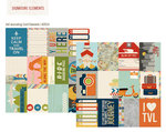 Simple Stories - Urban Traveler Collection - 12 x 12 Double Sided Paper - 3 x 4 Journaling Card Elements
