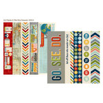 Simple Stories - Urban Traveler Collection - 12 x 12 Double Sided Paper - Border and Title Elements