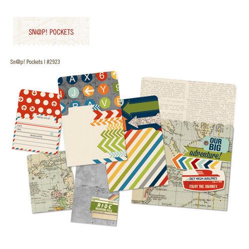 Simple Stories - SNAP Collection - Memorabilia Pockets - Urban Traveler