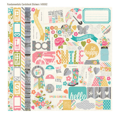 Simple Stories - Vintage Bliss Collection - 12 x 12 Cardstock Stickers - Fundamentals