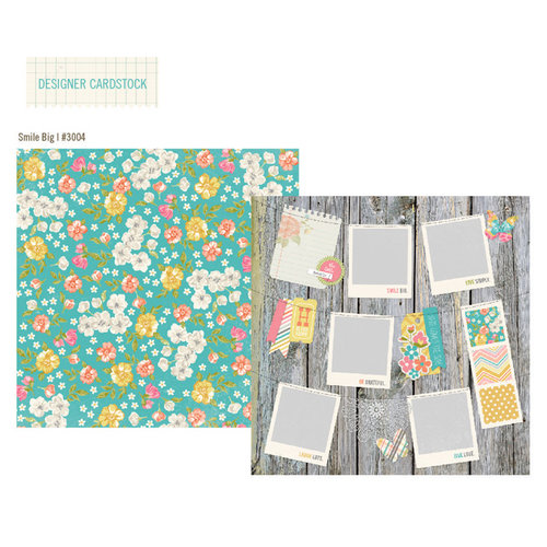 Simple Stories - Vintage Bliss Collection - 12 x 12 Double Sided Paper - Smile Big