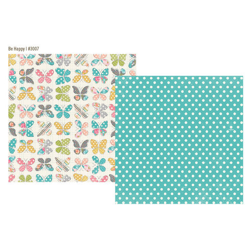 Simple Stories - Vintage Bliss Collection - 12 x 12 Double Sided Paper - Be Happy