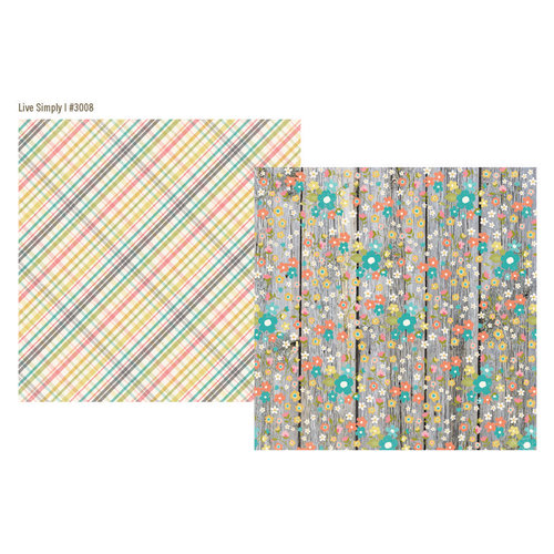 Simple Stories - Vintage Bliss Collection - 12 x 12 Double Sided Paper - Live Simply