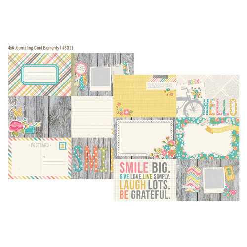 Simple Stories - Vintage Bliss Collection - 12 x 12 Double Sided Paper - 4 x 6 Horizontal Journaling Card Elements