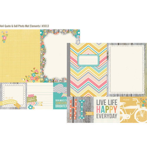 Simple Stories - Vintage Bliss Collection - 12 x 12 Double Sided Paper - Quote and Photo Mat Elements
