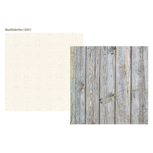 Simple Stories - Vintage Bliss Collection - 12 x 12 Double Sided Paper - Gray Wood