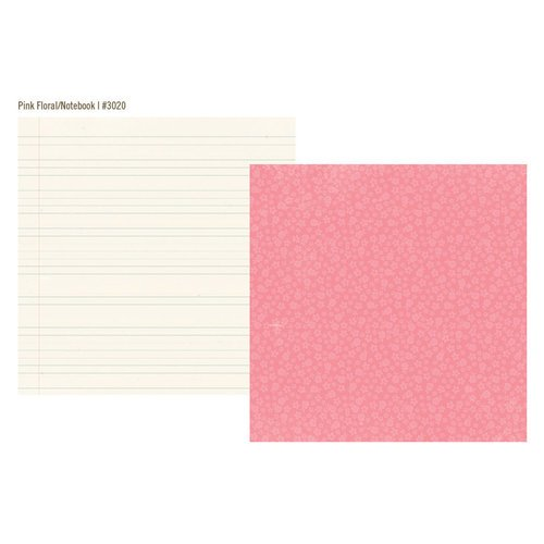 Simple Stories - Vintage Bliss Collection - 12 x 12 Double Sided Paper - Pink Floral