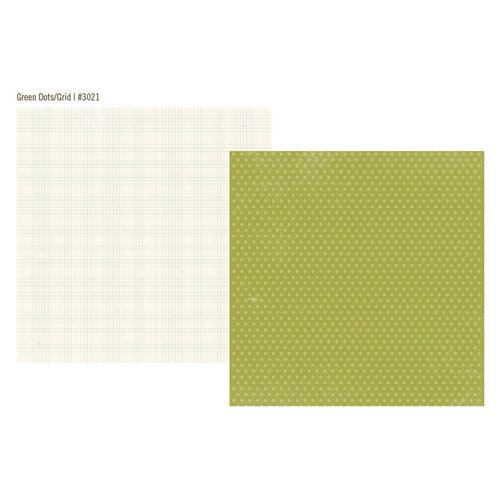 Simple Stories - Vintage Bliss Collection - 12 x 12 Double Sided Paper - Green Dot