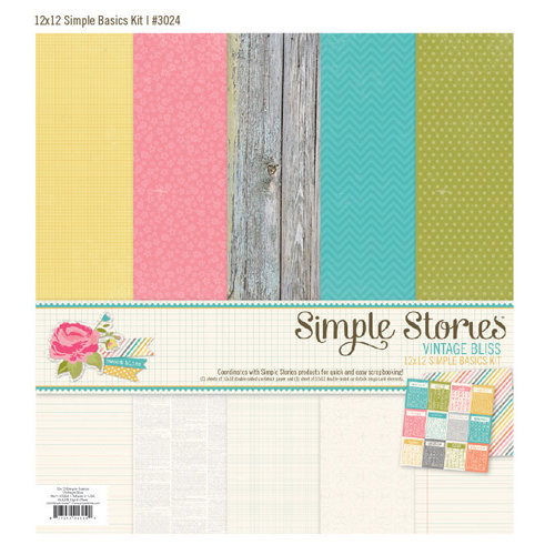 Simple Stories - Vintage Bliss Collection - 12 x 12 Simple Basics Kit