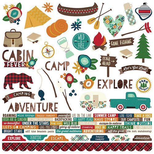 Simple Stories Cabin Stickers