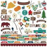 Simple Stories - Cabin Fever Collection - 12 x 12 Cardstock Stickers - Combo