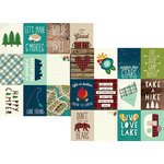 Simple Stories - Cabin Fever Collection - 12 x 12 Double Sided Paper - 3 x 4 Journaling Card Elements