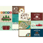 Simple Stories - Cabin Fever Collection - 12 x 12 Double Sided Paper - 4 x 6 Horizontal Elements