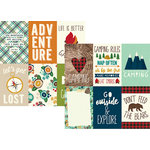 Simple Stories - Cabin Fever Collection - 12 x 12 Double Sided Paper - 4 x 6 Vertical Elements