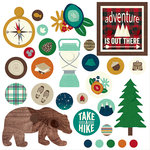 Simple Stories - Cabin Fever Collection - Decorative Brads