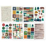 Simple Stories - Cabin Fever Collection - Cardstock Stickers
