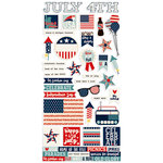 Simple Stories - All American Collection - Cardstock Stickers