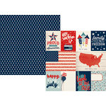 Simple Stories - All American Collection - 12 x 12 Double Sided Paper - 3 x 4 and 4 x 6 Journaling Card Elements