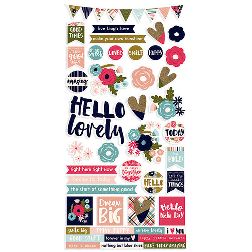 Simple Stories - Hello Lovely Collection - Cardstock Stickers