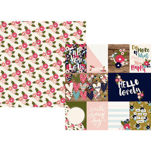 Simple Stories - Hello Lovely Collection - 12 x 12 Double Sided Paper - 3 x 4 and 4 x 6 Journaling Card Elements