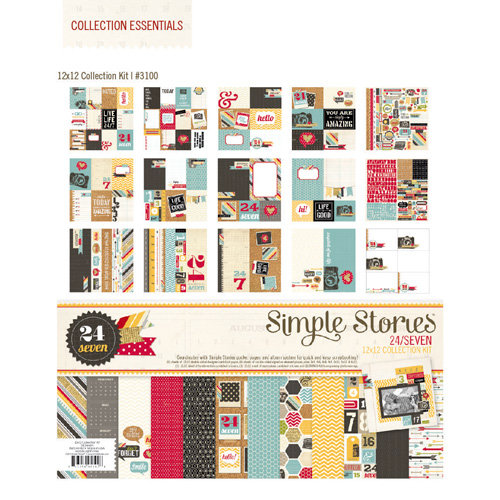 Simple Stories - 24 Seven Collection - 12 x 12 Collection Kit