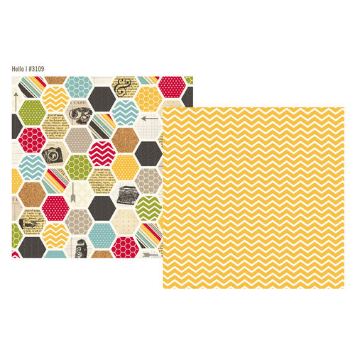 Simple Stories - 24 Seven Collection - 12 x 12 Double Sided Paper - Hello