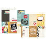 Simple Stories - 24 Seven Collection - 12 x 12 Double Sided Paper - 4 x 6 Vertical Journaling Card Elements