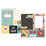 Simple Stories - 24 Seven Collection - 12 x 12 Double Sided Paper - Quote and Photo Mat Elements