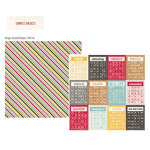Simple Stories - 24 Seven Collection - 12 x 12 Double Sided Paper - Bingo Cards